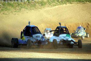 Autocross Training Strecke für Motorrad gesperrt